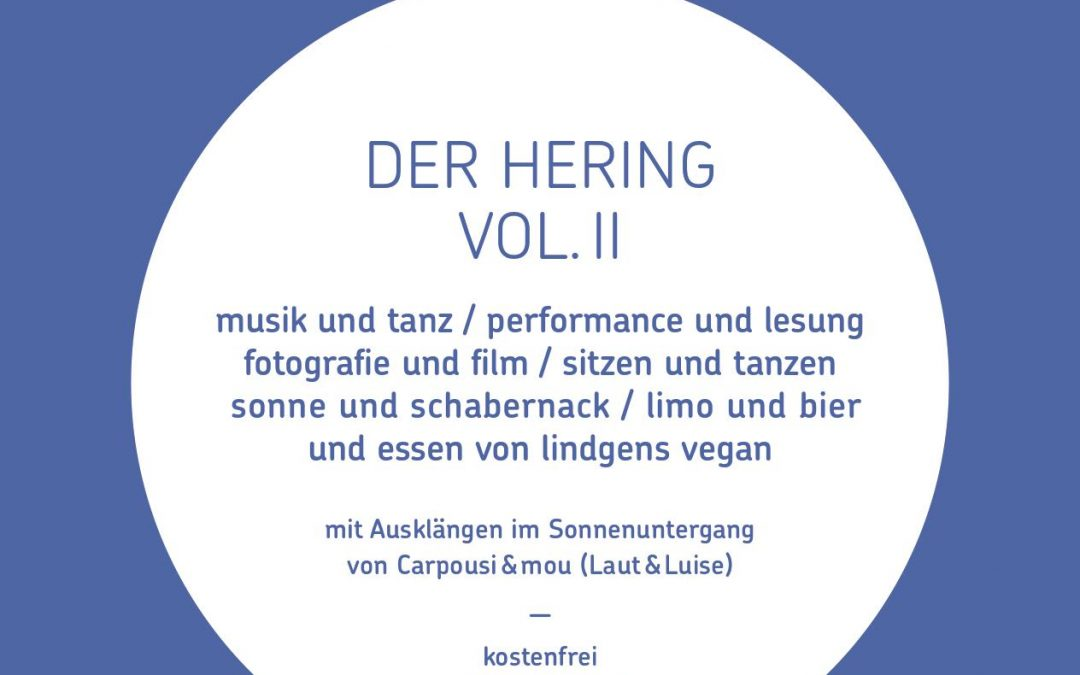 Kunstfestival: Hering im Speckmantel am 9. Sept.